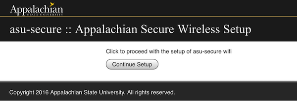 asu-secure wireless configuration screen