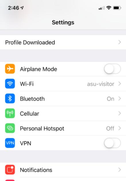 profile download settings