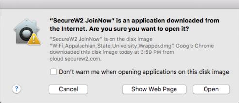 Open SecureW2 JoinNow