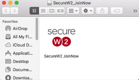 SecureW2 JoinNow