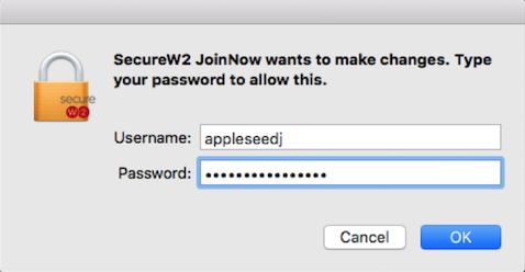 Enter Admin username and password